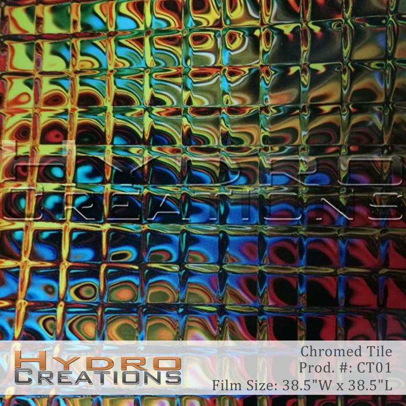 Chromed Tile - Hydro film for hydro dipping and water transfer printing - HydroCreations