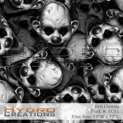 Evil Clowns design hydro film - product image.