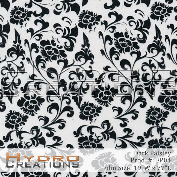Paisley Dark - Hydro film for hydro dipping and water transfer printing - HydroCreations
