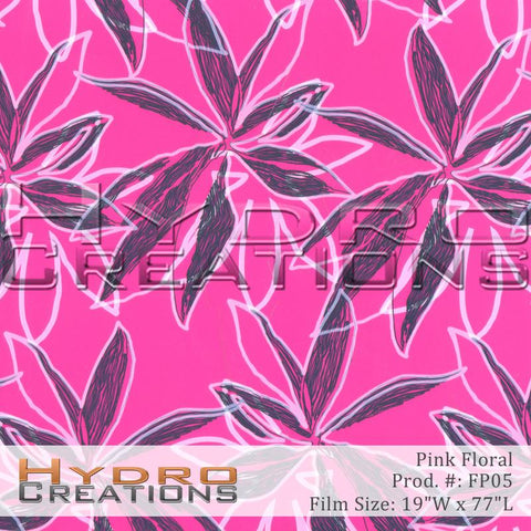 Pink Floral design hydro film - product image by HydroCreations.