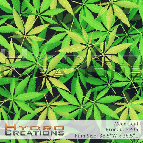Weed Leaf design hydro film - product image by HydroCreations.