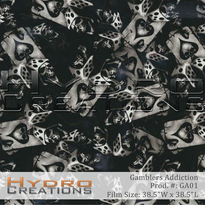 Gamblers Addiction - Hydro film for hydro dipping and water transfer printing - HydroCreations