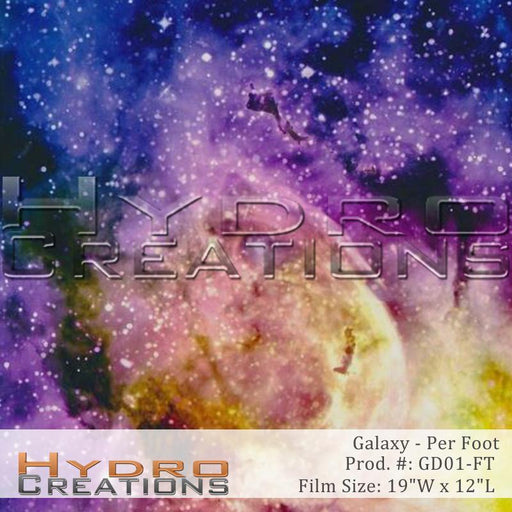 Galaxy - Per Foot - Hydro film for hydro dipping and water transfer printing - HydroCreations