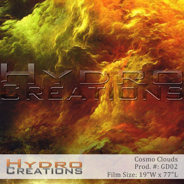 Cosmo Clouds - Hydro film for hydro dipping and water transfer printing - HydroCreations
