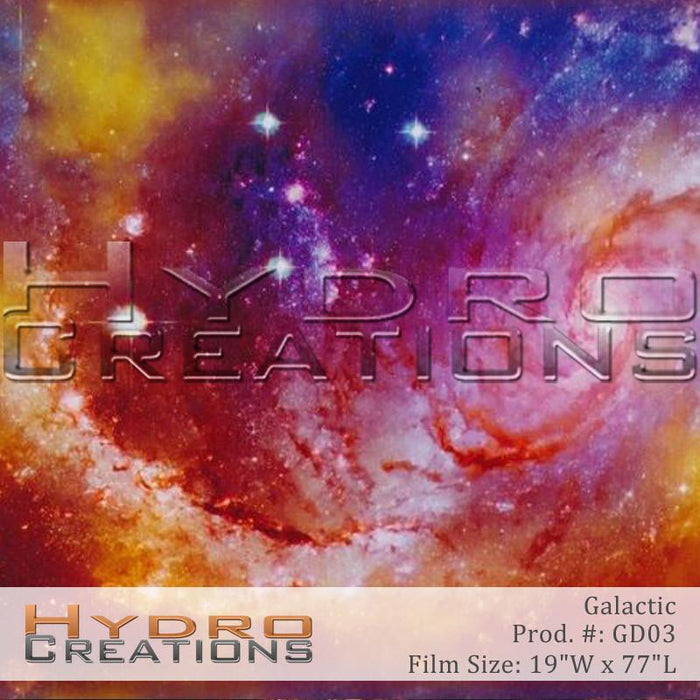 Galactic - Hydro film for hydro dipping and water transfer printing - HydroCreations