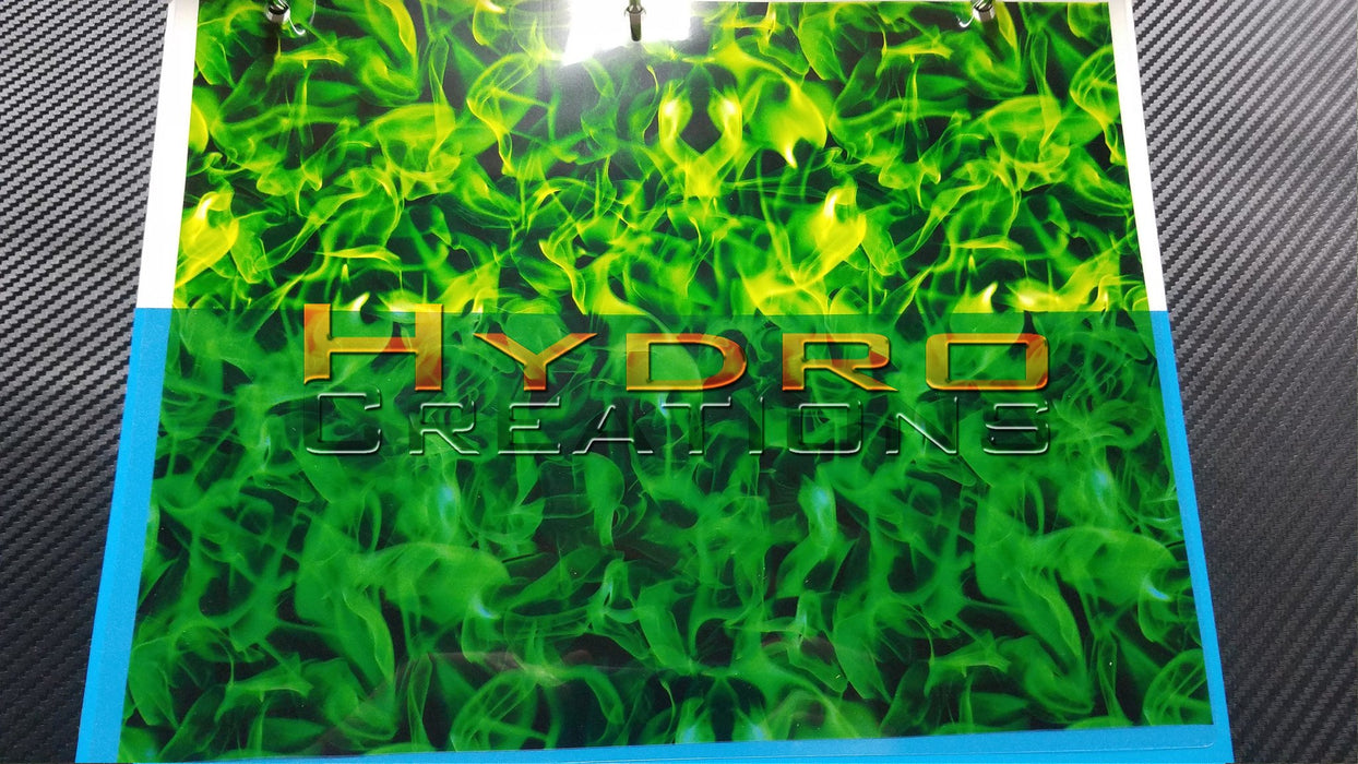 Green Flames - Hydro film for hydro dipping and water transfer printing - HydroCreations