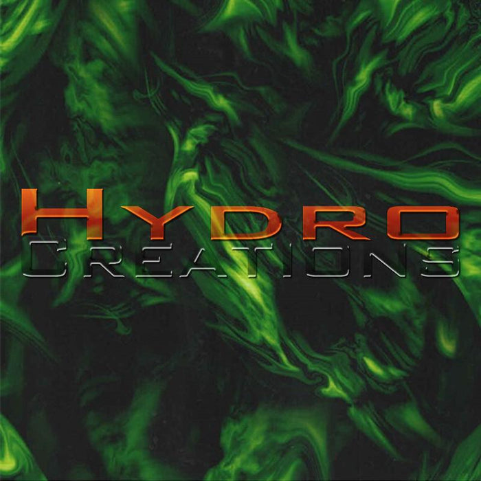 Green Flame Skulls v2 - Hydro film for hydro dipping and water transfer printing - HydroCreations