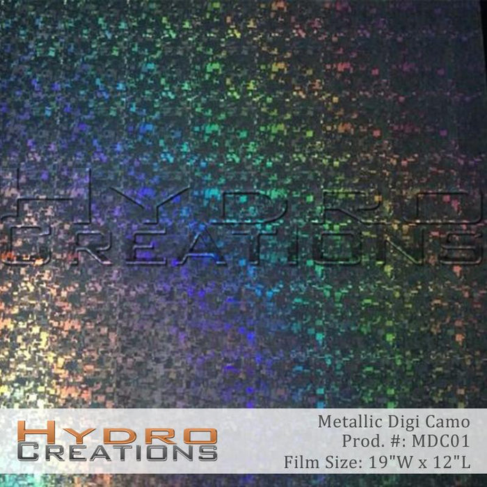 Metallic Digi Camo - Hydro film for hydro dipping and water transfer printing - HydroCreations