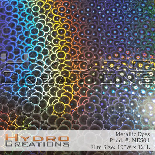 Metallic Eyes - Hydro film for hydro dipping and water transfer printing - HydroCreations