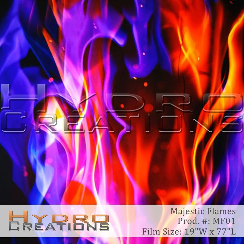 Majestic Flames - Hydro film for hydro dipping and water transfer printing - HydroCreations