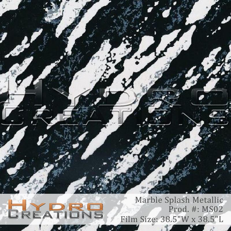 Metallic Marble Splash - Hydro film for hydro dipping and water transfer printing - HydroCreations