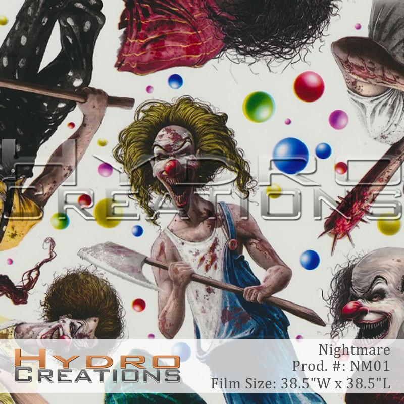 Nightmare Color - Hydro film for hydro dipping and water transfer printing - HydroCreations