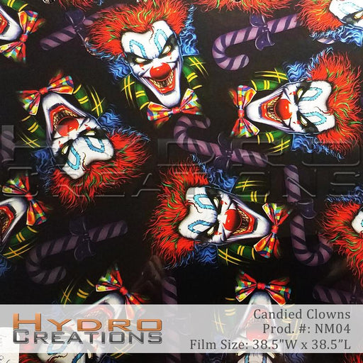 Candied Clowns - Hydro film for hydro dipping and water transfer printing - HydroCreations