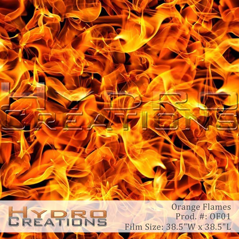 Orange Flames - Hydro film for hydro dipping and water transfer printing - HydroCreations