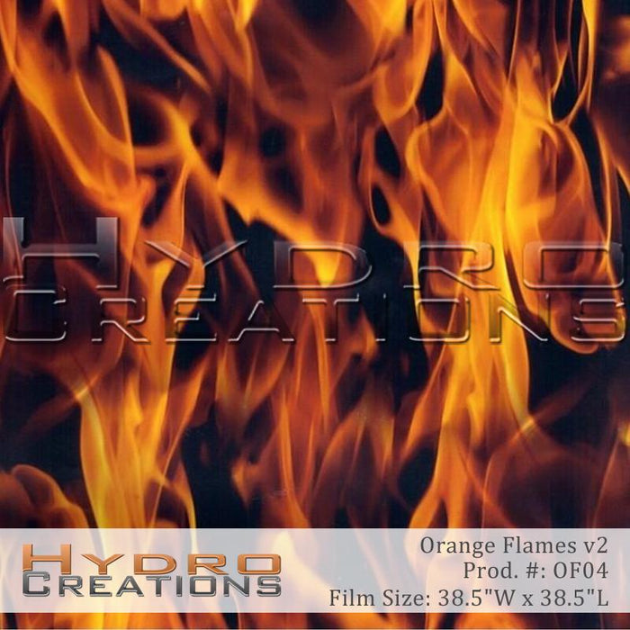 Orange Flames v2 - Hydro film for hydro dipping and water transfer printing - HydroCreations