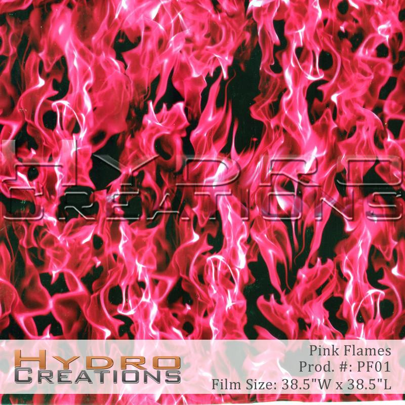 Pink Flames - Hydro film for hydro dipping and water transfer printing - HydroCreations