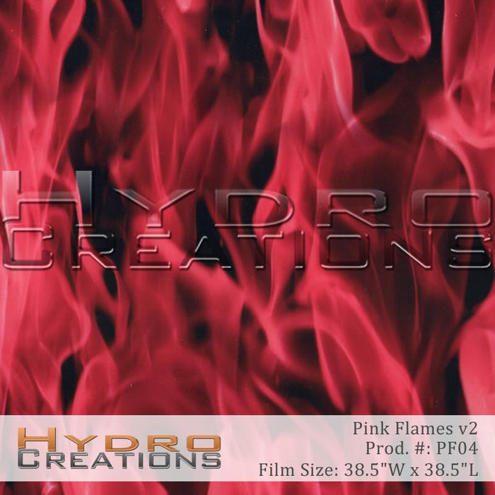 Pink Flames v2 - Hydro film for hydro dipping and water transfer printing - HydroCreations
