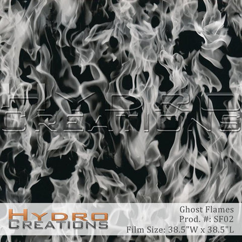 Ghost Flames design hydro film - product image.