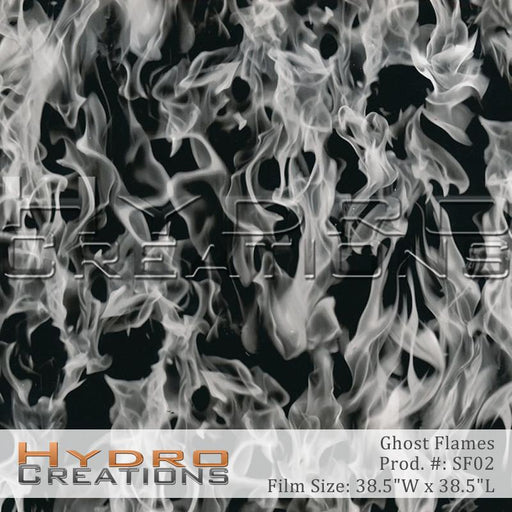 Ghost Flames - Hydro film for hydro dipping and water transfer printing - HydroCreations