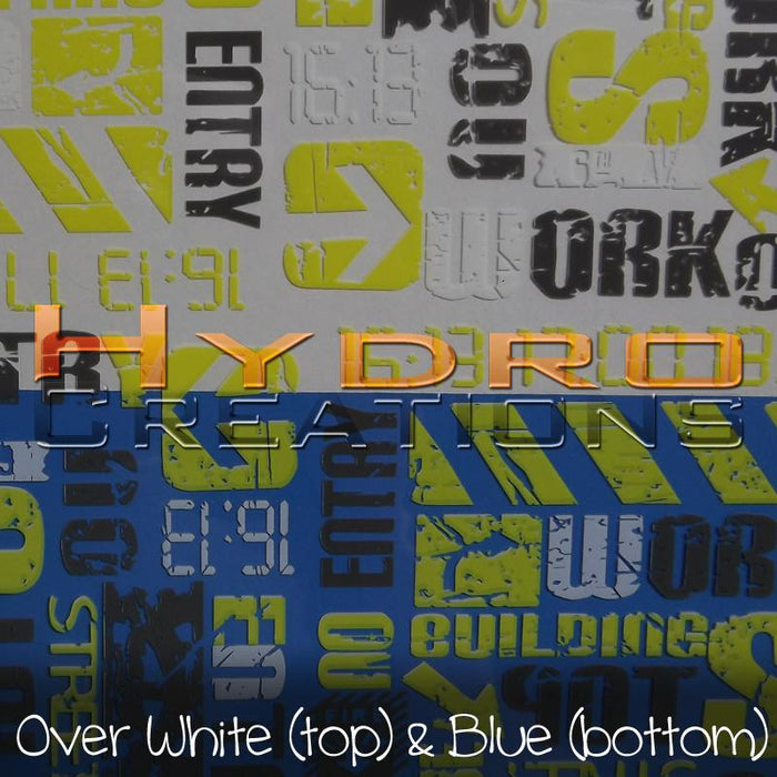 Urban Street - Yellow - Hydro film for hydro dipping and water transfer printing - HydroCreations
