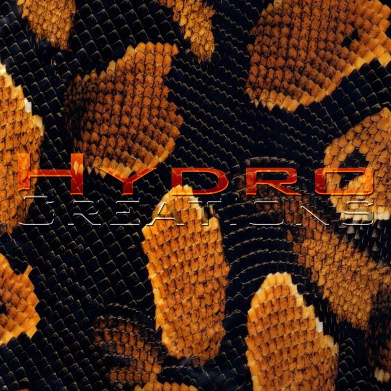 Snake Skin - Orange - Hydro film for hydro dipping and water transfer printing - HydroCreations