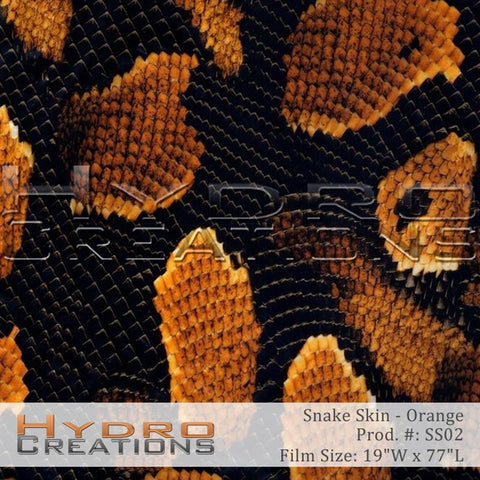 Orange Snake Skin design hydro film - product image.