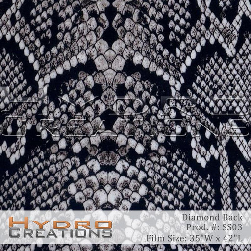 Diamond Back - Hydro film for hydro dipping and water transfer printing - HydroCreations