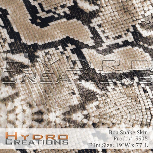 Boa Snake Skin - Hydro film for hydro dipping and water transfer printing - HydroCreations
