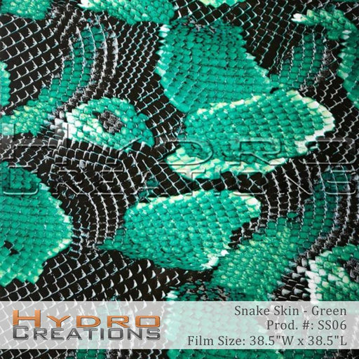 Snake Skin - Green - Hydro film for hydro dipping and water transfer printing - HydroCreations