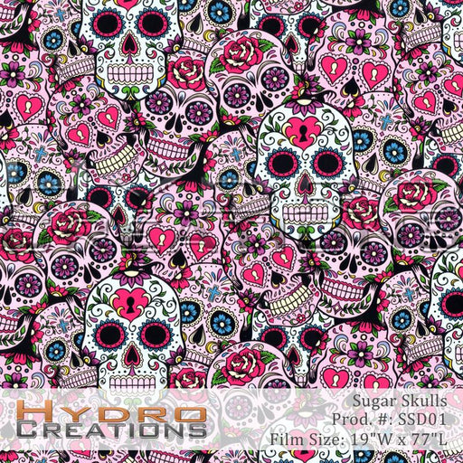 Sugar Skulls - Hydro film for hydro dipping and water transfer printing - HydroCreations