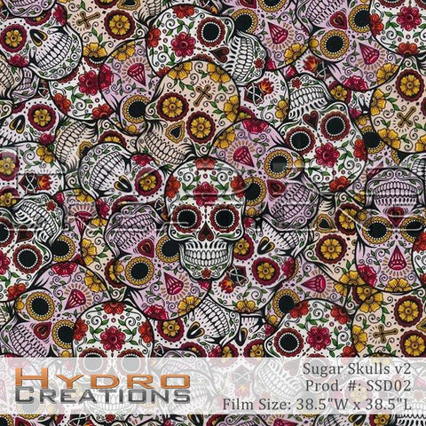 Sugar Skulls v2  design hydro film - product image.