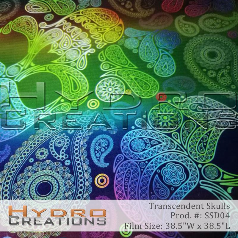 Transcendent Skulls - Hydro film for hydro dipping and water transfer printing - HydroCreations