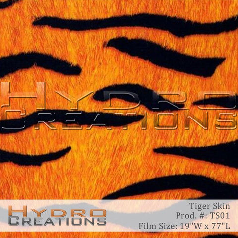 Tiger Skin design hydro film - product image.