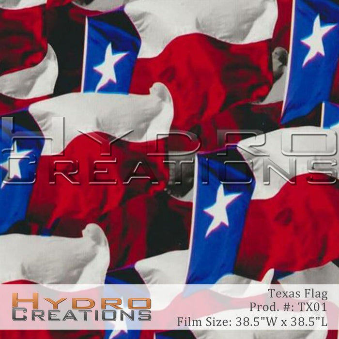 Texas Flag - Hydro film for hydro dipping and water transfer printing - HydroCreations