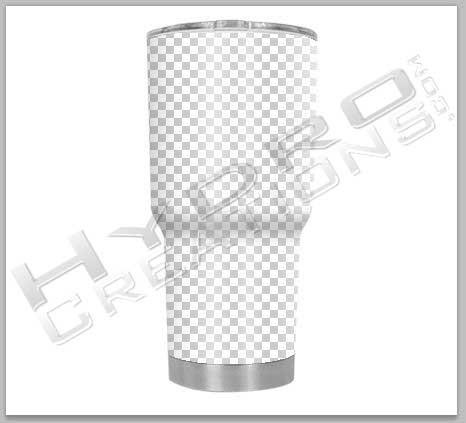 Tumbler Mock Designer Template - Hydro film for hydro dipping and water transfer printing - HydroCreations