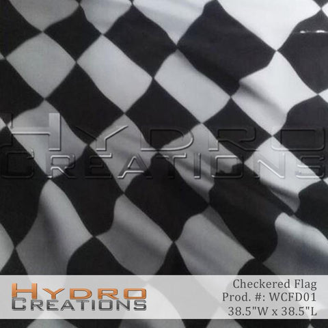 Checkered Flag design hydro film - product image.
