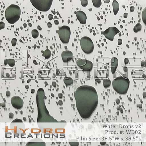 Water Drops v2 - Hydro film for hydro dipping and water transfer printing - HydroCreations