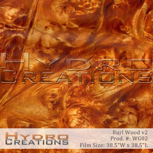 Burl Wood v2 - Hydro film for hydro dipping and water transfer printing - HydroCreations