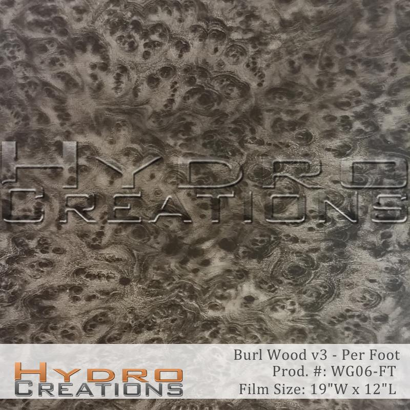 Burl Wood v3 - Per Foot - Hydro film for hydro dipping and water transfer printing - HydroCreations