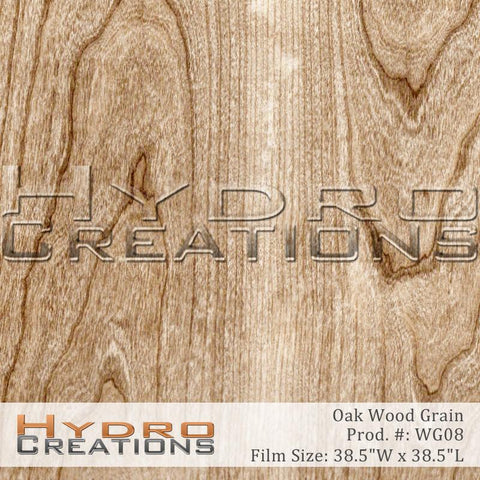 Oak Wood Grain design hydro film - main product image by HydroCreations.