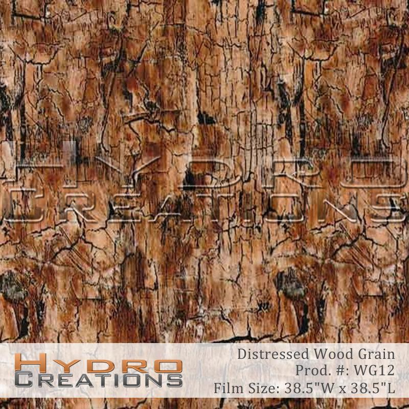 Distressed Wood Grain - Hydro film for hydro dipping and water transfer printing - HydroCreations