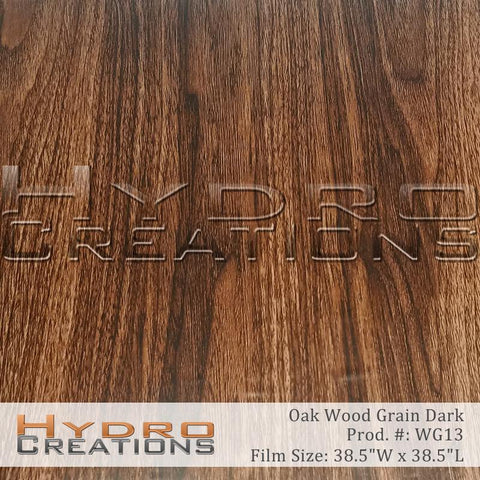 Dark Oak wood grain hydro film for water transfer printing