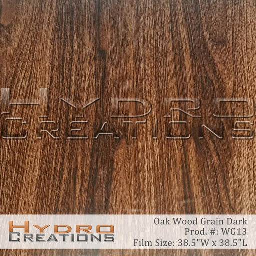 Dark Oak - Hydro film for hydro dipping and water transfer printing - HydroCreations