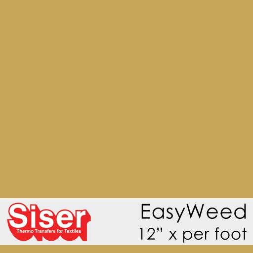 Heat Transfer Vinyl - Gold - Siser EasyWeed Heat Transfer Vinyl