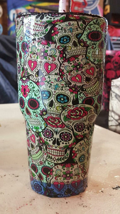 Sugar Skulls - Per Foot - Hydro film for hydro dipping and water transfer printing - HydroCreations