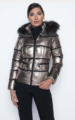 Frank Lyman Winter Metallic Coat 194138u