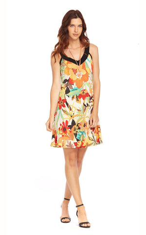 Cute V-neck summer dress by Mode Gitane (V-39)
