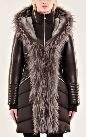 Rudsak Down Winter Coat with Fur Trim Maestra 8117508
