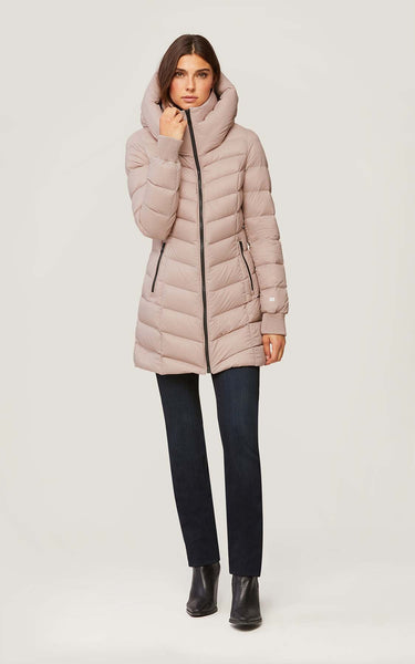 SOIA & KYO Lightweight Water resistant Down coat- Alanis