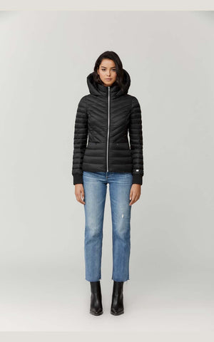 SOIA & KYO Lightweight Down Jacket- Chalee